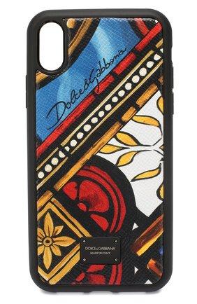 Мужской чехол для iphone xr DOLCE & GABBANA разноцветного цвета, арт. BP2516/AZ657 | Фото 1