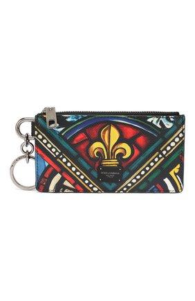 Мужской кожаный футляр для кредитных карт DOLCE & GABBANA разноцветного цвета, арт. BP2524/AZ657 | Фото 1