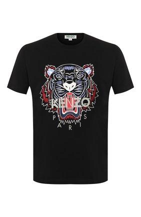 Мужская хлопковая футболка KENZO черного цвета, арт. FA55TS0504YA | Фото 1