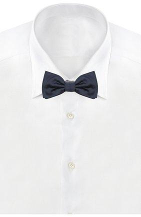 Мужской шелковый галстук-бабочка HUGO темно-синего цвета, арт. 50291359 | Фото 2
