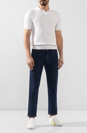 Мужские текстильные кеды SWIMS белого цвета, арт. 21285   Фото 2 (Статус проверки: Проверена категория; Материал внешний: Текстиль; Подошва: Плоская)