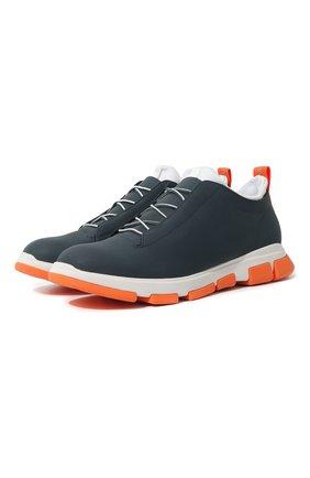 Мужские кожаные кроссовки SWIMS синего цвета, арт. 21311 | Фото 1 (Статус проверки: Проверена категория; Подошва: Массивная; Стили: Спорт)