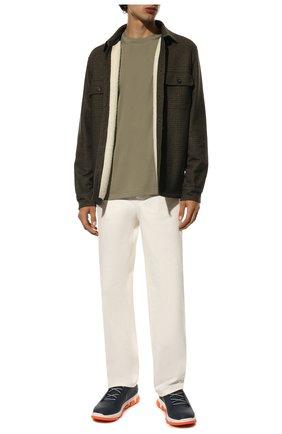 Мужские кожаные кроссовки SWIMS синего цвета, арт. 21311 | Фото 2 (Статус проверки: Проверена категория; Подошва: Массивная; Стили: Спорт)