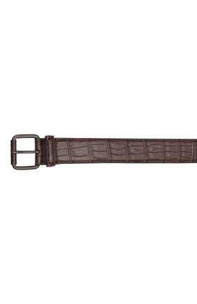 Мужской ремень из кожи крокодила BOTTEGA VENETA коричневого цвета, арт. 288168/V9022 | Фото 2