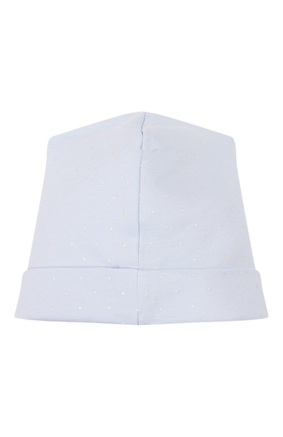 Детского шапка noah's friends MAGNOLIA BABY синего цвета, арт. E109-50P-LB | Фото 2 (Материал: Текстиль, Хлопок; Кросс-КТ НВ: Шапочки-аксессуары)