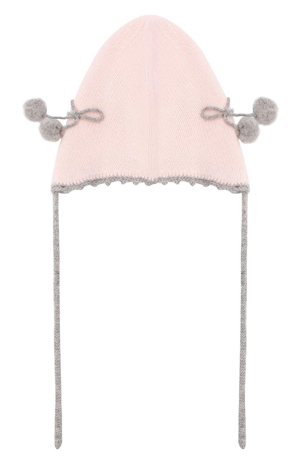 Детского кашемировая шапка OSCAR ET VALENTINE розового цвета, арт. BON04CHERRY | Фото 2