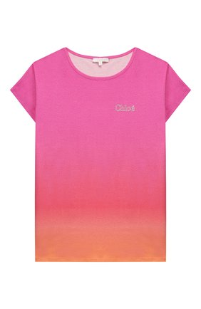 Детская футболка CHLOÉ розового цвета, арт. C15B25 | Фото 1