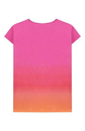 Детская футболка CHLOÉ розового цвета, арт. C15B25 | Фото 2