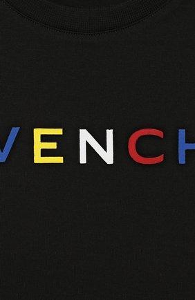 Детский футболка GIVENCHY черного цвета, арт. H05119 | Фото 3