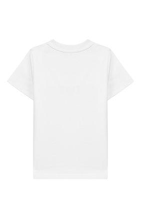 Детский хлопковая футболка GIVENCHY белого цвета, арт. H05116 | Фото 2