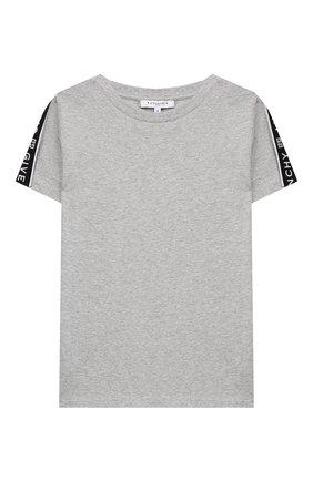 Детская футболка GIVENCHY серого цвета, арт. H25174 | Фото 1