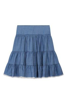 Детская юбка CHLOÉ синего цвета, арт. C13245 | Фото 1