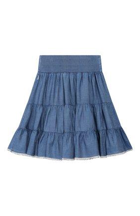 Детская юбка CHLOÉ синего цвета, арт. C13245 | Фото 2