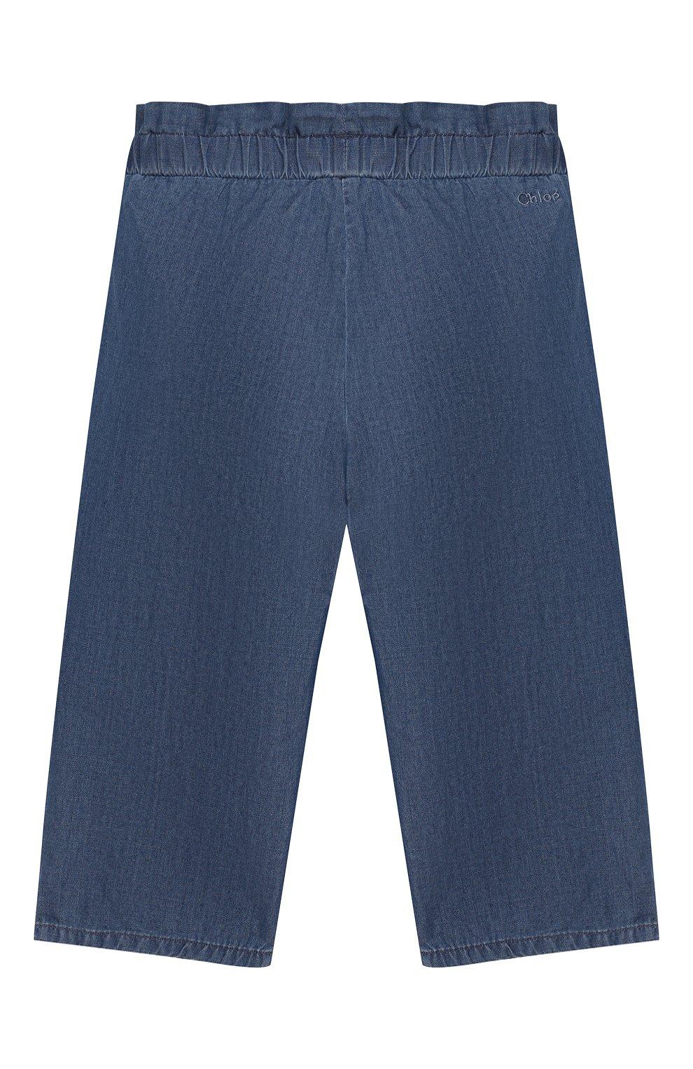 Детские брюки CHLOÉ голубого цвета, арт. C04157 | Фото 2