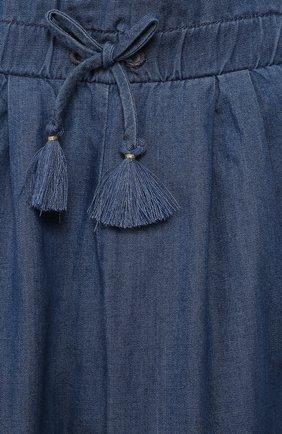 Детские брюки CHLOÉ голубого цвета, арт. C04157 | Фото 3
