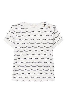Детский футболка CHLOÉ темно-синего цвета, арт. C05330 | Фото 1