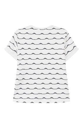 Детский футболка CHLOÉ темно-синего цвета, арт. C05330 | Фото 2