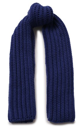 Детский кашемировый шарф LORO PIANA синего цвета, арт. FAF8485 | Фото 1
