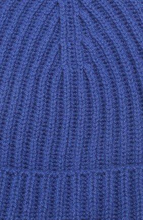 Детского кашемировая шапка LORO PIANA синего цвета, арт. FAF8492 | Фото 3 (Материал: Кашемир, Шерсть)