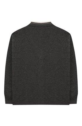 Детский кашемировый кардиган BRUNELLO CUCINELLI серого цвета, арт. B12162826B | Фото 2