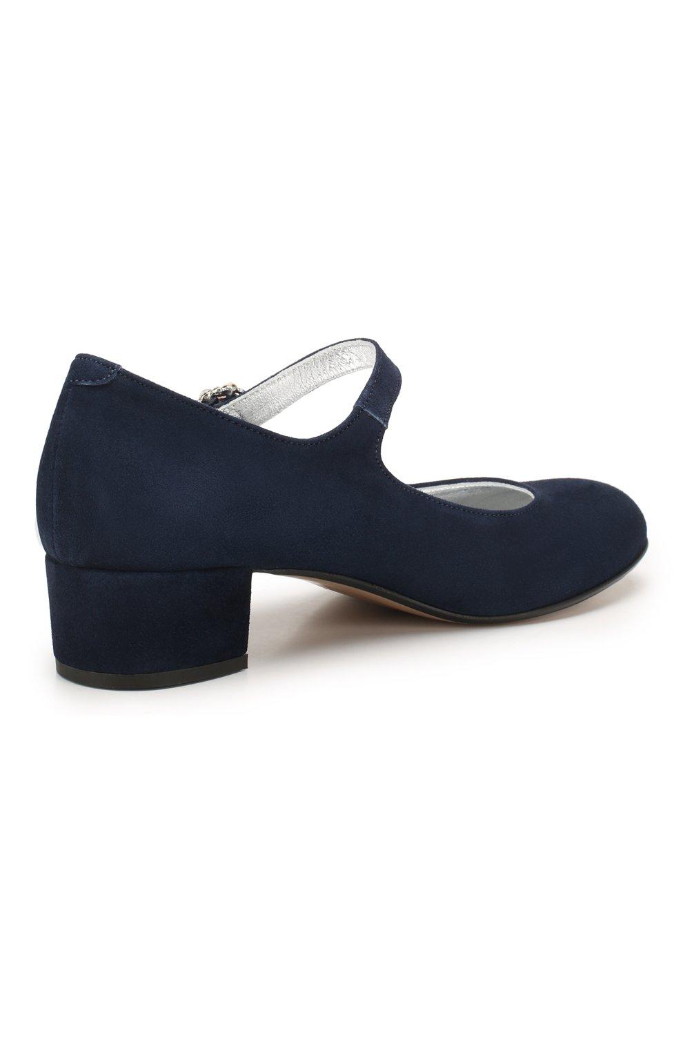 Детские кожаные туфли MISSOURI синего цвета, арт. 78031/27-30 | Фото 3