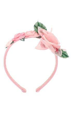 Детского ободок DOLCE & GABBANA розового цвета, арт. LB3L47/G7VIJ | Фото 1