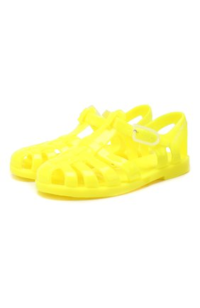 Детские резиновые сандалии EMPORIO ARMANI желтого цвета, арт. XMPS01/X0Z05 | Фото 1