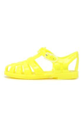 Детские резиновые сандалии EMPORIO ARMANI желтого цвета, арт. XMPS01/X0Z05 | Фото 2