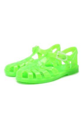 Детские резиновые сандалии EMPORIO ARMANI зеленого цвета, арт. XMPS01/X0Z05 | Фото 1