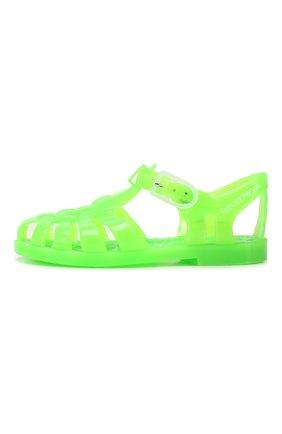 Детские резиновые сандалии EMPORIO ARMANI зеленого цвета, арт. XMPS01/X0Z05 | Фото 2