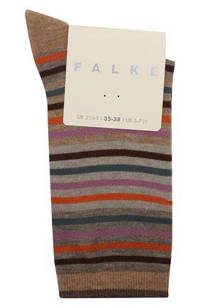 Женские носки profile stripe FALKE бежевого цвета, арт. 46325_19_ | Фото 1