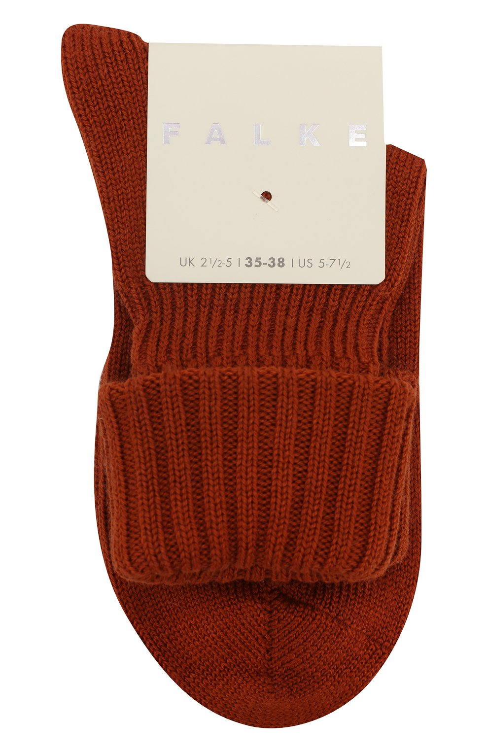 Женские носки striggings rib FALKE коричневого цвета, арт. 47520_19_ | Фото 1