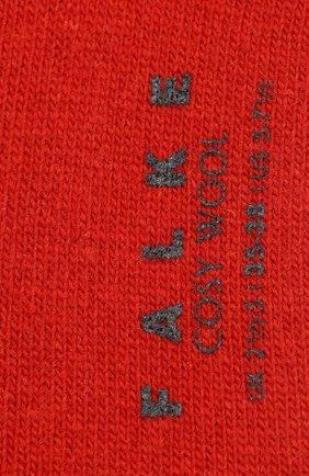Женские носки cosy wool FALKE красного цвета, арт. 47548_19_ | Фото 2