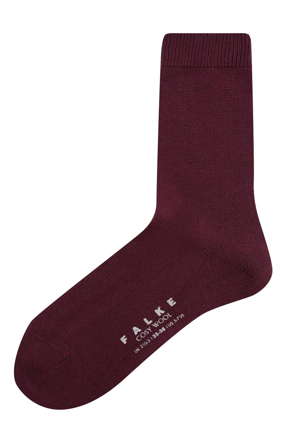 Женские носки cosy wool FALKE бордового цвета, арт. 47548_19_ | Фото 1