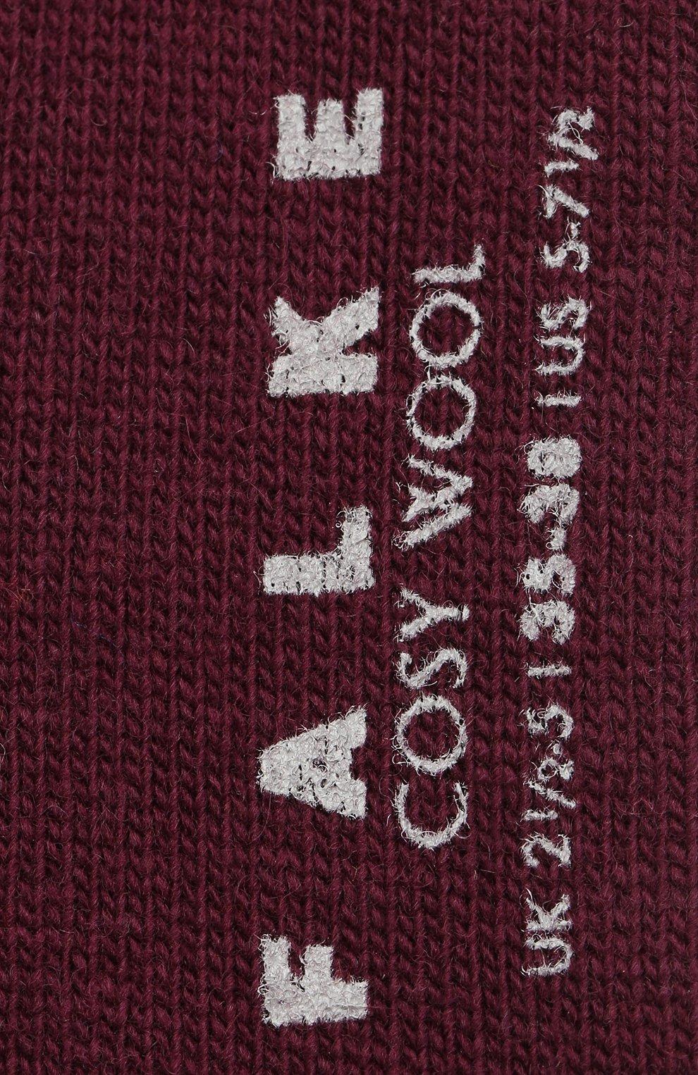 Женские носки cosy wool FALKE бордового цвета, арт. 47548_19_ | Фото 2