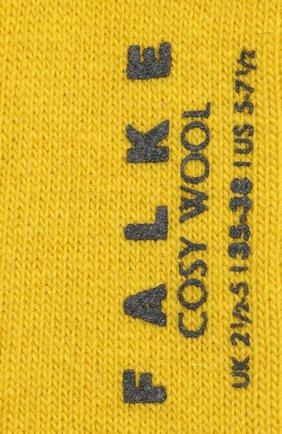 Женские носки cosy wool FALKE желтого цвета, арт. 47548_19_ | Фото 2