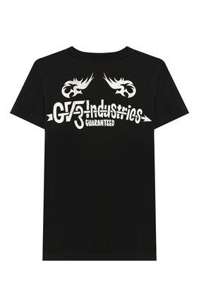 Детская хлопковая футболка GIVENCHY черного цвета, арт. H25179 | Фото 2