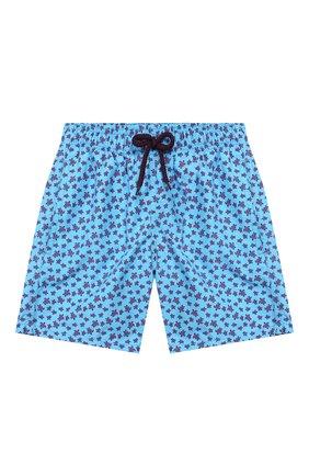 Детские плавки-шорты VILEBREQUIN синего цвета, арт. JIMU0B39 | Фото 1