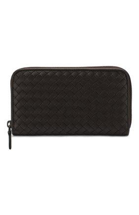 Женские кожаный кошелек BOTTEGA VENETA темно-коричневого цвета, арт. 114076/V001N | Фото 1