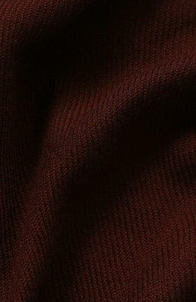 Мужской кашемировый шарф LORO PIANA бордового цвета, арт. FAF3540 | Фото 2