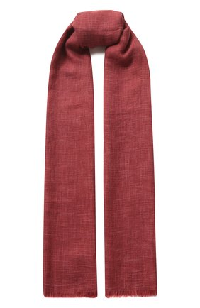 Мужской шарф brina из смеси кашемира и шелка с необработанным краем LORO PIANA бордового цвета, арт. FAF8678 | Фото 1