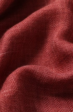 Мужской шарф brina из смеси кашемира и шелка с необработанным краем LORO PIANA бордового цвета, арт. FAF8678 | Фото 2