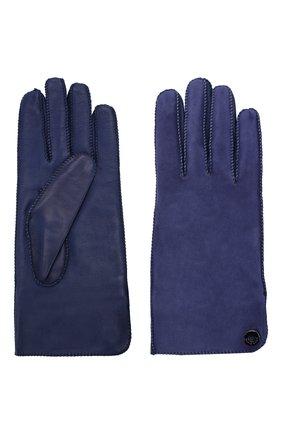 Женские перчатки jacqueline из кожи и замши LORO PIANA синего цвета, арт. FAF8575 | Фото 2