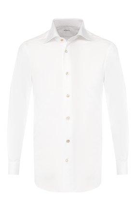 Мужская хлопковая сорочка KITON белого цвета, арт. UCCEEP2/H0003707/P5 | Фото 1