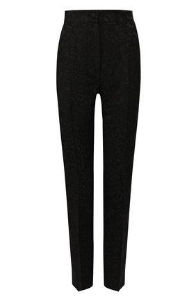 Женские брюки DOLCE & GABBANA черного цвета, арт. FTAM2T/FJRDI | Фото 1