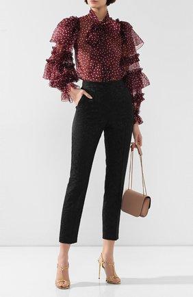 Женские брюки DOLCE & GABBANA черного цвета, арт. FTAM2T/FJRDI | Фото 2
