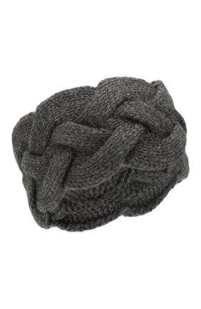 Женская кашемировая повязка на голову NOT SHY серого цвета, арт. 3504042C | Фото 1