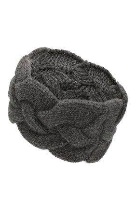 Женская кашемировая повязка на голову NOT SHY серого цвета, арт. 3504042C | Фото 2