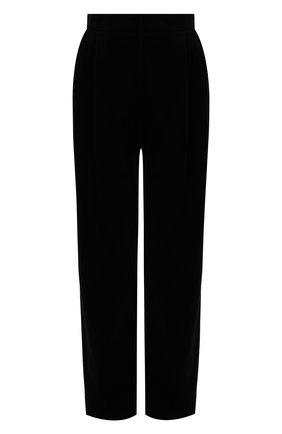 Женские бархатные брюки DOLCE & GABBANA черного цвета, арт. FTA9ZT/FUVJZ | Фото 1