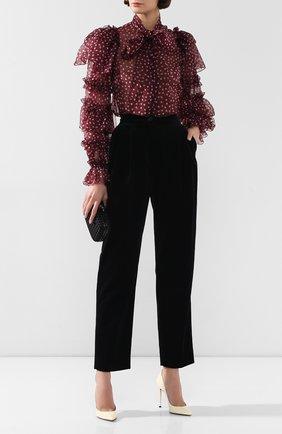 Женские бархатные брюки DOLCE & GABBANA черного цвета, арт. FTA9ZT/FUVJZ | Фото 2